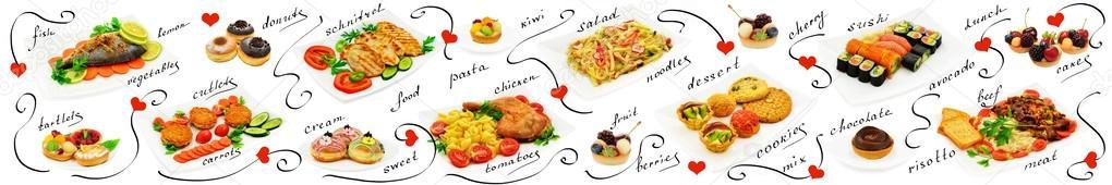 Panorama mix food