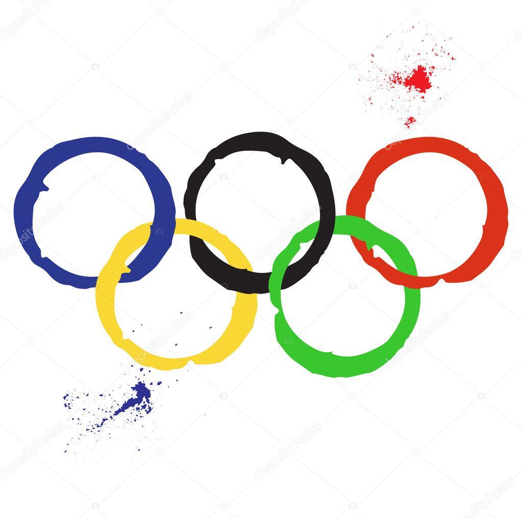 vector illustration of olympic rings stock vector golubok 31688335 rh depositphotos com olympic rings clip art free printable olympic rings clip art