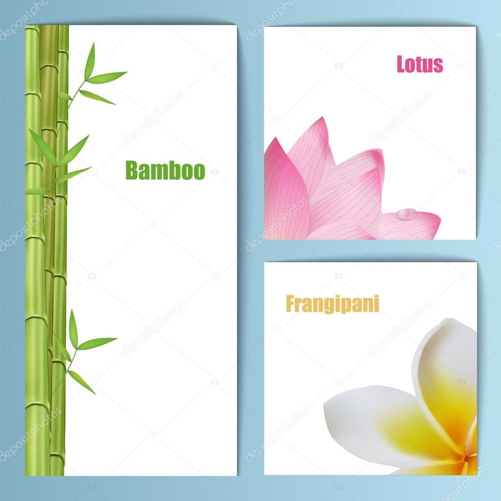 Invitation Card Sample Design. Exotic tropical flowers invitation card layout  Background design for banners Stock Vector