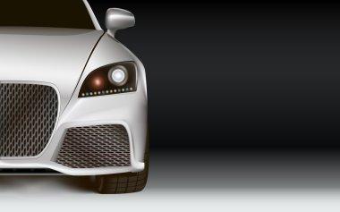 Modern Car. Dark background.
