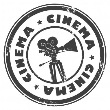 Stamp with movie camera