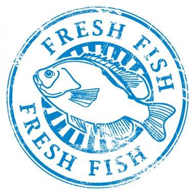 """Картина, постер, плакат, фотообои """"печать свежей рыбы"""", артикул 12583420"""