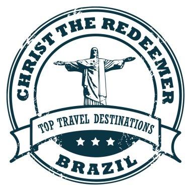 Brazil Christ the Redeemer stamp
