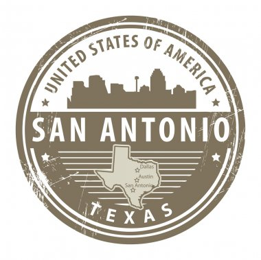 Texas, San Antonio stamp