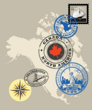 Stamps of theme North America