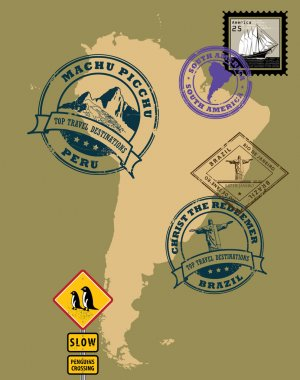 Stamps of theme South America
