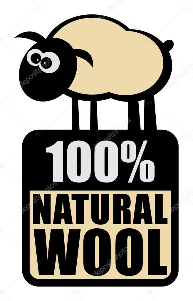 Label 100% Natural Wool