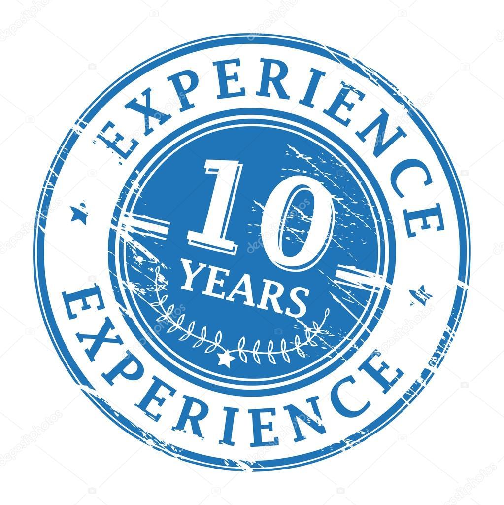 10 years experience stamp  u2014 stock vector  u00a9  fla  13545498