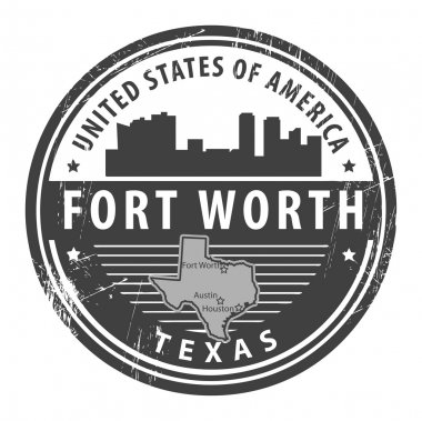 Texas, Fort Worth stamp