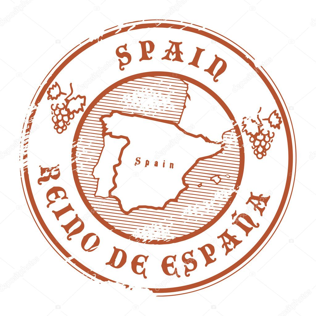 Spain Stamp Stock Vector