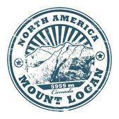 Fotografie der Mount Logan Stempel
