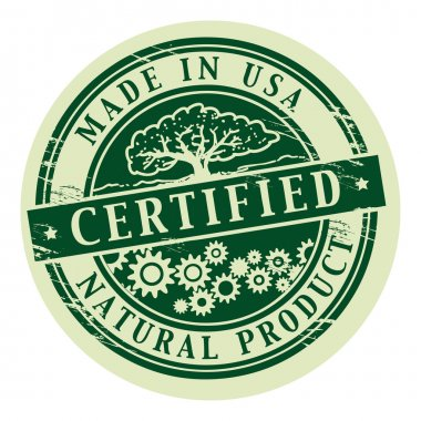 Natural Product, Certified stamp