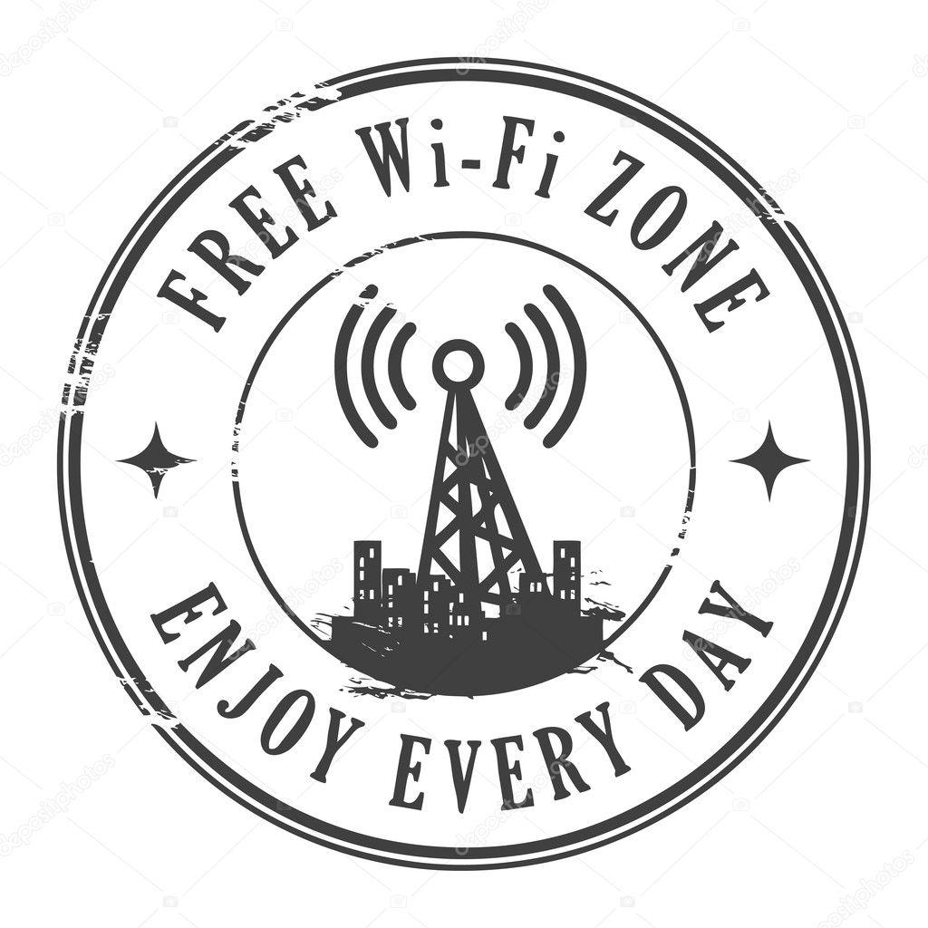 Free wifi zone stamp