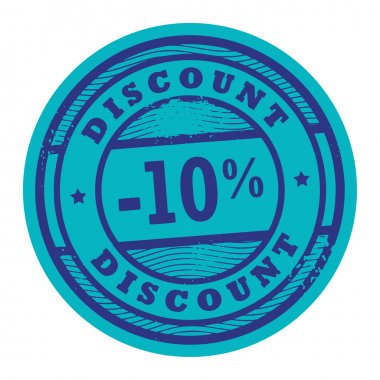 Discount 10 stamp