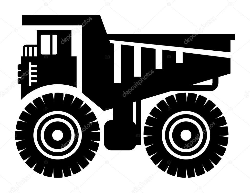 dump truck icon u2014 stock vector fla 16908781