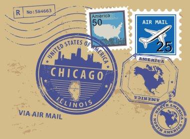 Illinois, Chicago stamp