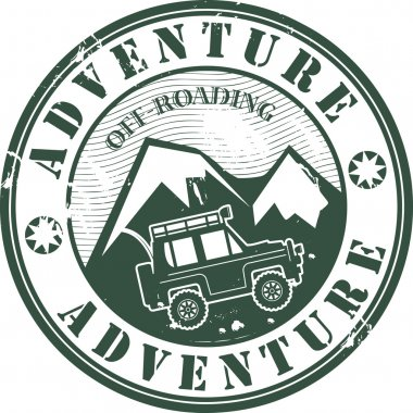 Offroad adventure stamp
