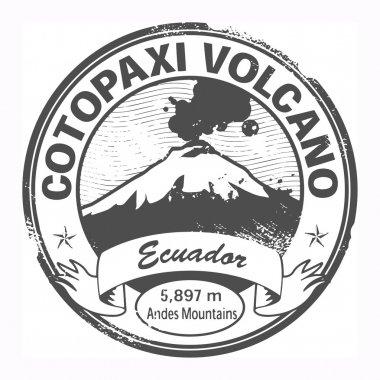 Cotopaxi Volcano, Ecuador stamp