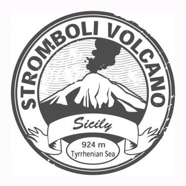 Stromboli Volcano, Sicily stamp