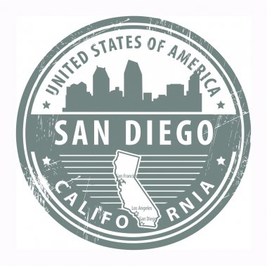 California, San Diego stamp