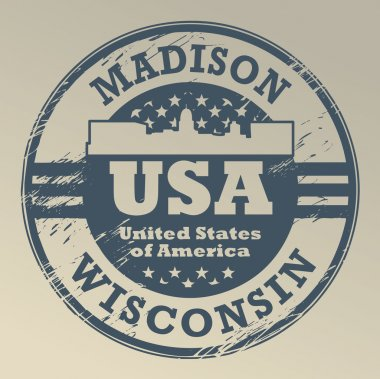 Wisconsin, Madison stamp