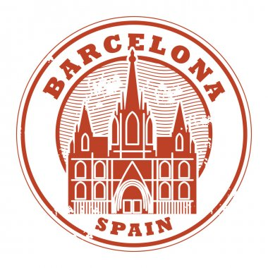 Barcelona, Spain stamp