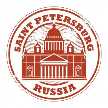 Grunge rubber stamp with words Saint Petersburg, Russia inside clip art vector