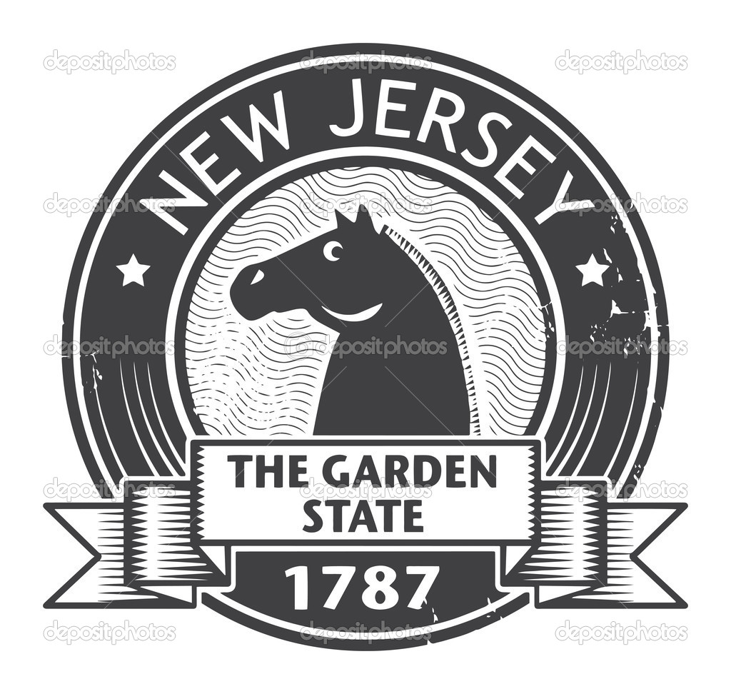 New Jersey Stamp Stock Vector