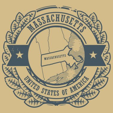 Massachusetts, USA stamp