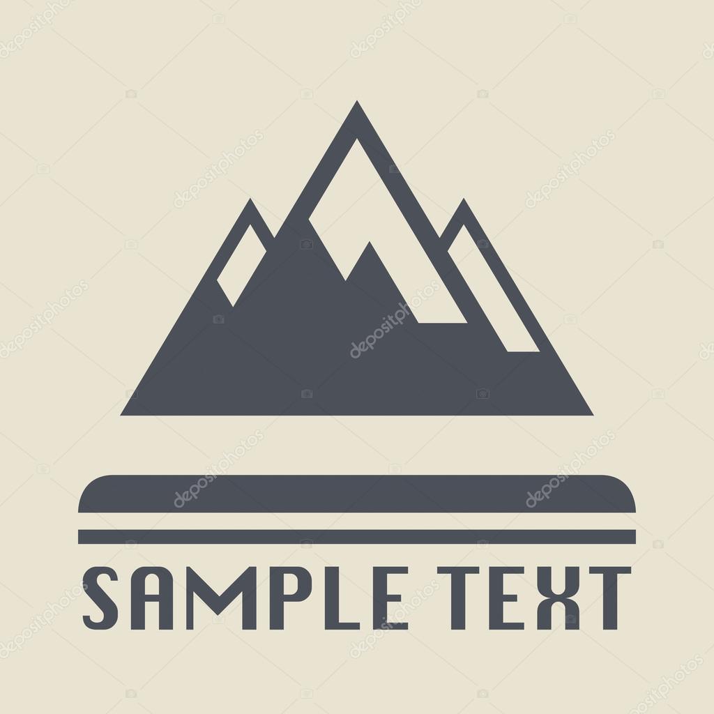 Icon or sign mountains