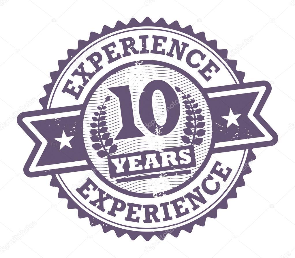 グランジ スタンプ テキスト 10 年の経験と内に書かれベクトル