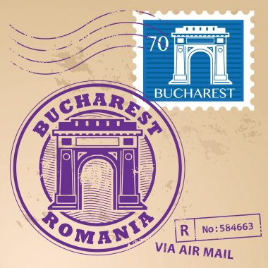 stamp Bucharest, Romania
