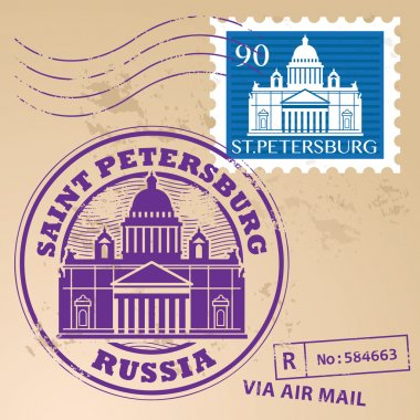 Grunge rubber stamp set with words Saint Petersburg, Russia inside, vector illustration clip art vector
