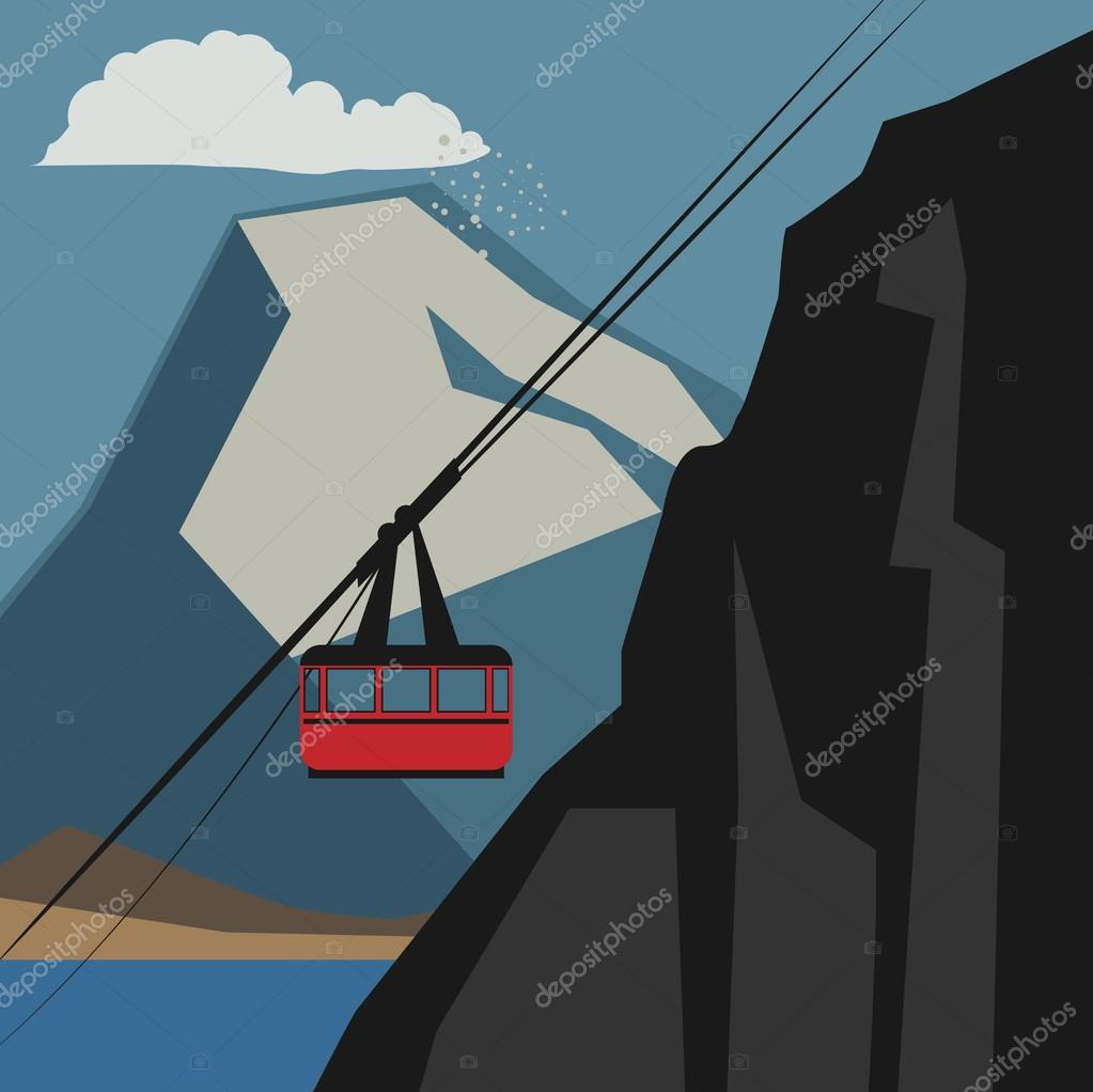 Winter mountain adventure background