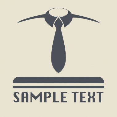 Tie icon or sign