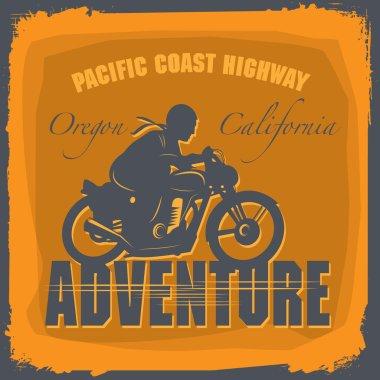 Vintage Motorcycle adventure label