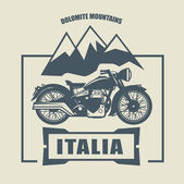 Fotografie Vintage motocykl popisek