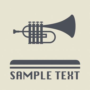 Trumpet icon or sign