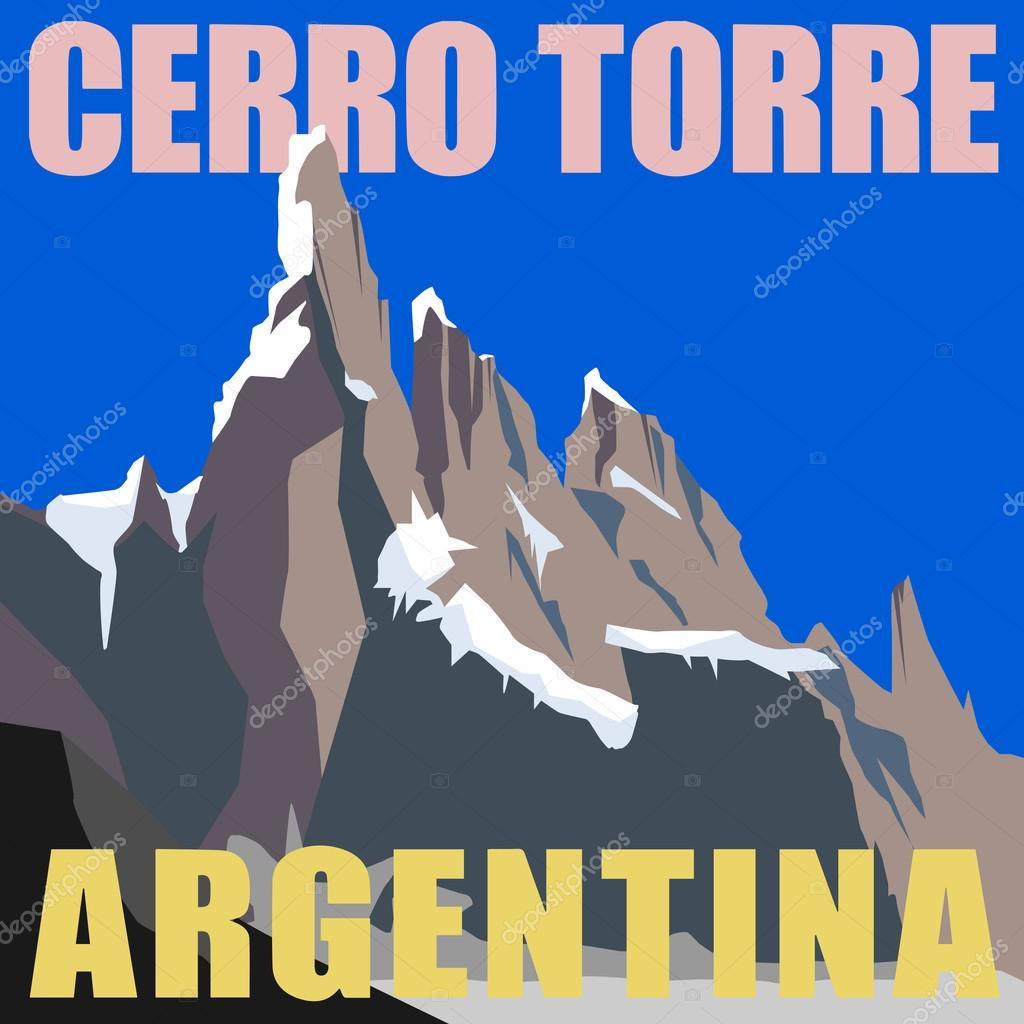 Mount Cerro Torre - peak in the Argentina, Andes
