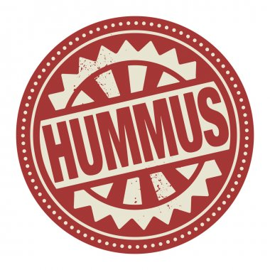 Abstract stamp or label with the text Hummus written inside