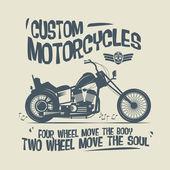 Vintage motorkerékpár címke vagy a poszter
