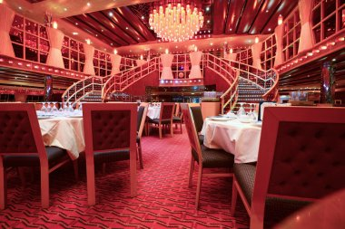 Dinning deck on cruise liner