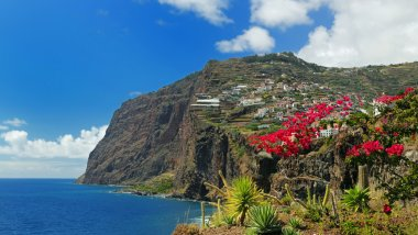 Cliff Cabo Girao at southern coast of Madeira Portugal 03