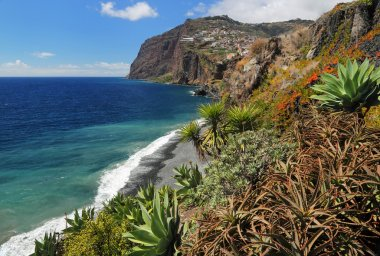 Cliff Cabo Girao at southern coast of Madeira Portugal 01
