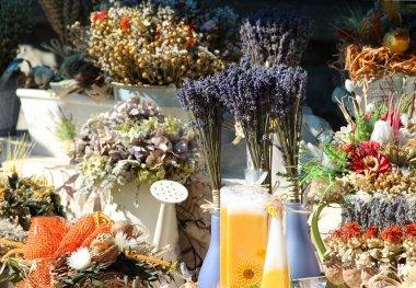 Natural souvenirs: lavender, herbs, boquets, spices, aromatic pi