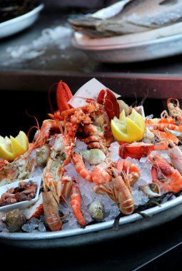 Big mix of seafood products