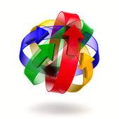 abstraktní design prstenů a šipky