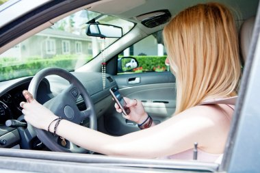 Teenager Texting While Driving