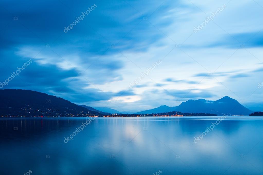 Lake Maggiore Blue Sunrise
