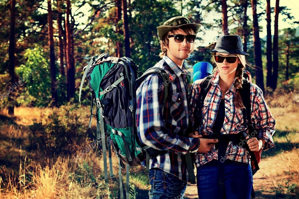 Couple tourists